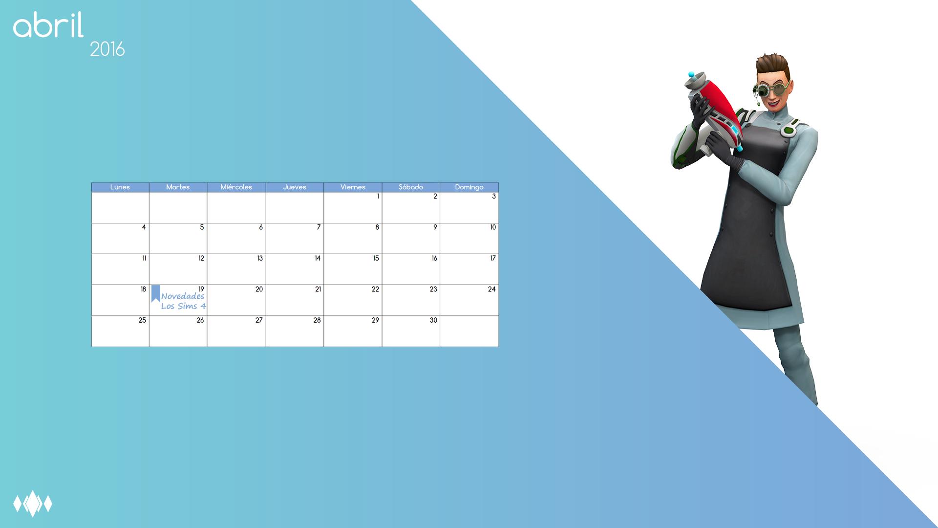 Fondo De Pantalla Calendario De Los Sims A 241 O 2016